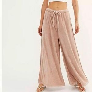 Free People Intimately Make It Maxi Clay Pink Pant
